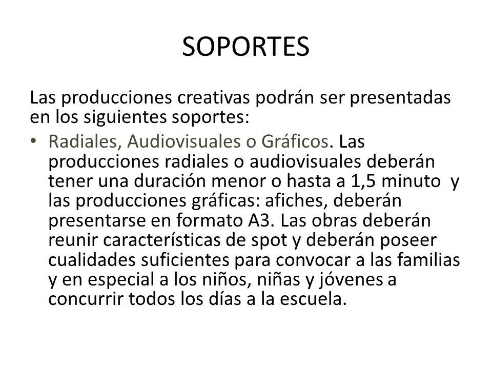 NORMAS DE PRESENTACION La presentación del Video / audio / gráfica deberá constar de: - 3 copias en formato DVD para audio y video / CD y formato papel para gráfica - Ficha de Inscripción - Título y Sinopsis.