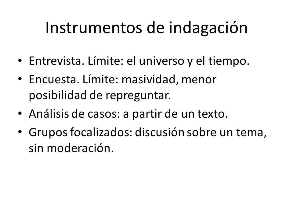 Instrumentos de indagación Entrevista.Límite: el universo y el tiempo.