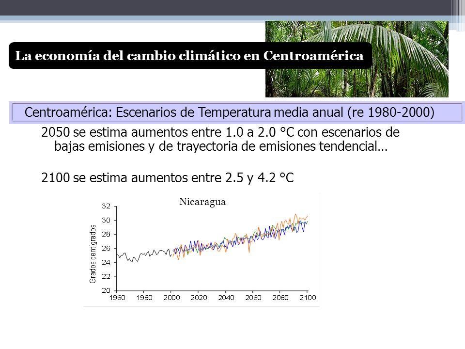 Con escenario de bajas emisiones a 2100, la reducción regional es de 11% y rango entre 3% y 17% dependiendo del país.