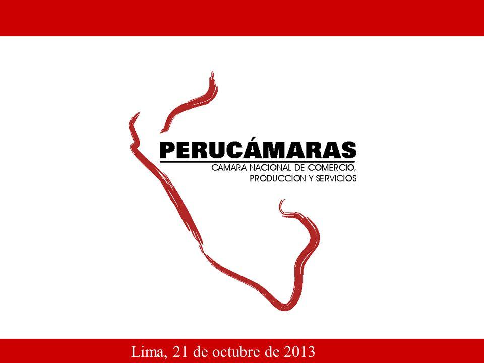 1 Lima, 21 de octubre de 2013