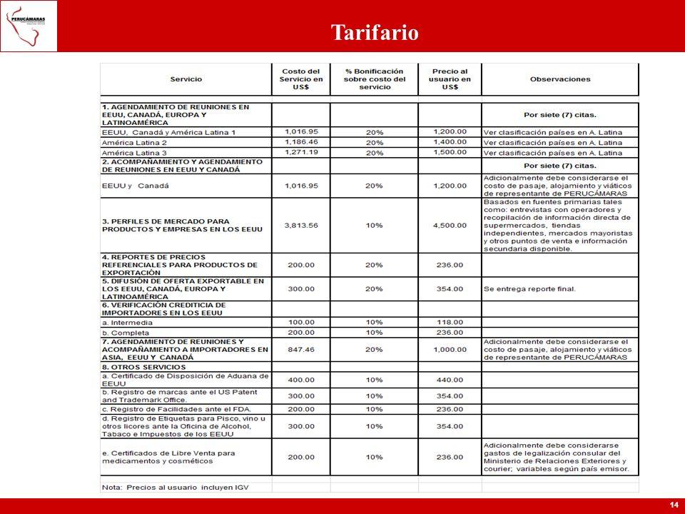 14 Tarifario