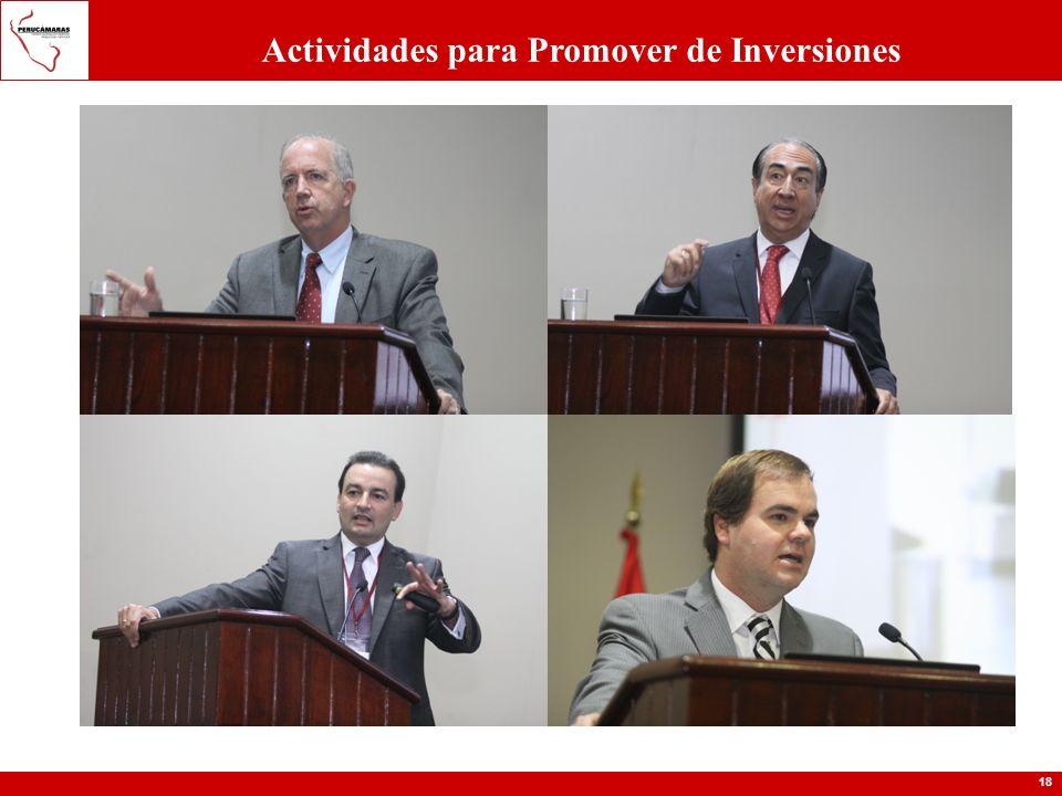 18 Actividades para Promover de Inversiones
