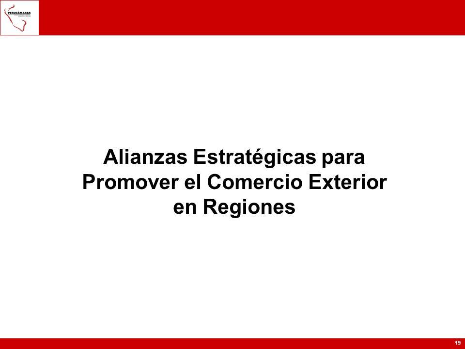 19 Alianzas Estratégicas para Promover el Comercio Exterior en Regiones
