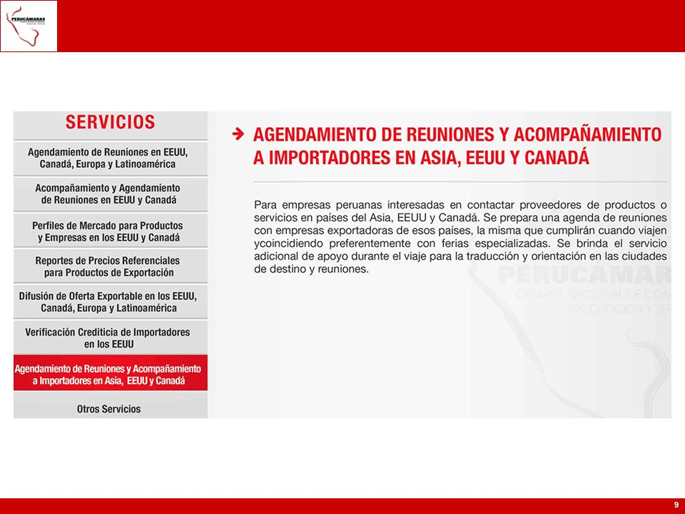 20 -Gerencia de Comercio Exterior de la CCL; Sr.