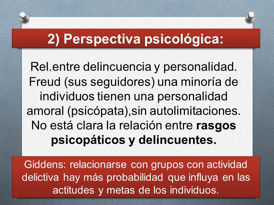 Rel.entre delincuencia y personalidad. Freud (sus seguidores) una minoría de individuos tienen una personalidad amoral (psicópata),sin autolimitacione