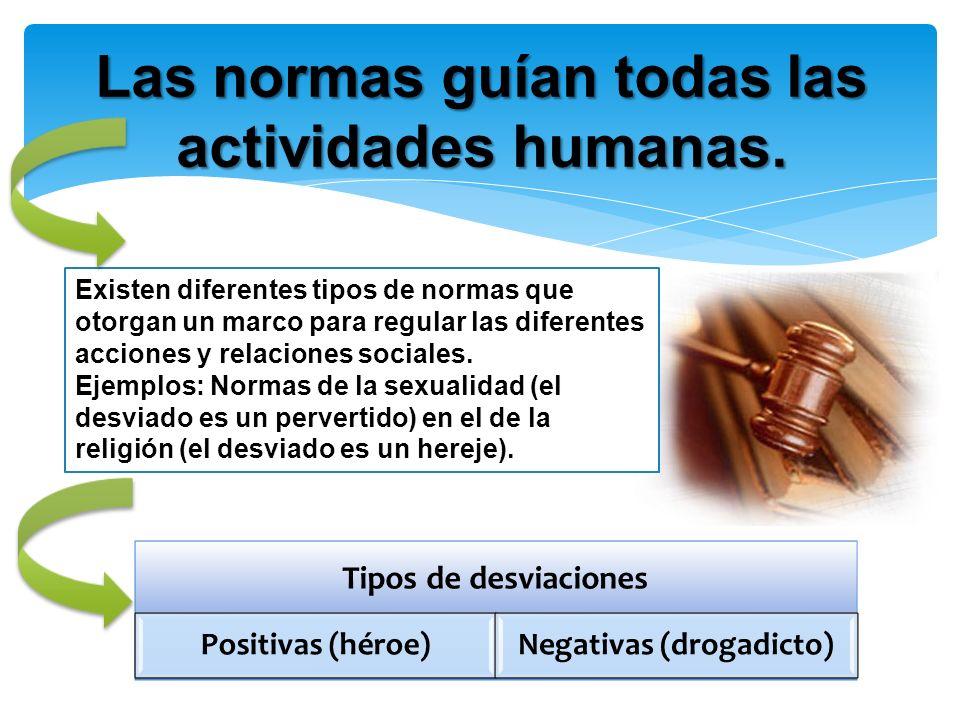 Las normas guían todas las actividades humanas. Existen diferentes tipos de normas que otorgan un marco para regular las diferentes acciones y relacio