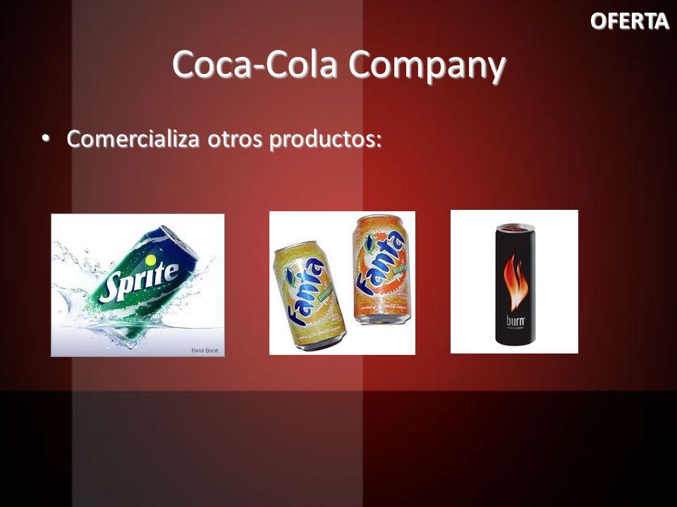 Coca-Cola Company Comercializa otros productos: Comercializa otros productos: OFERTA