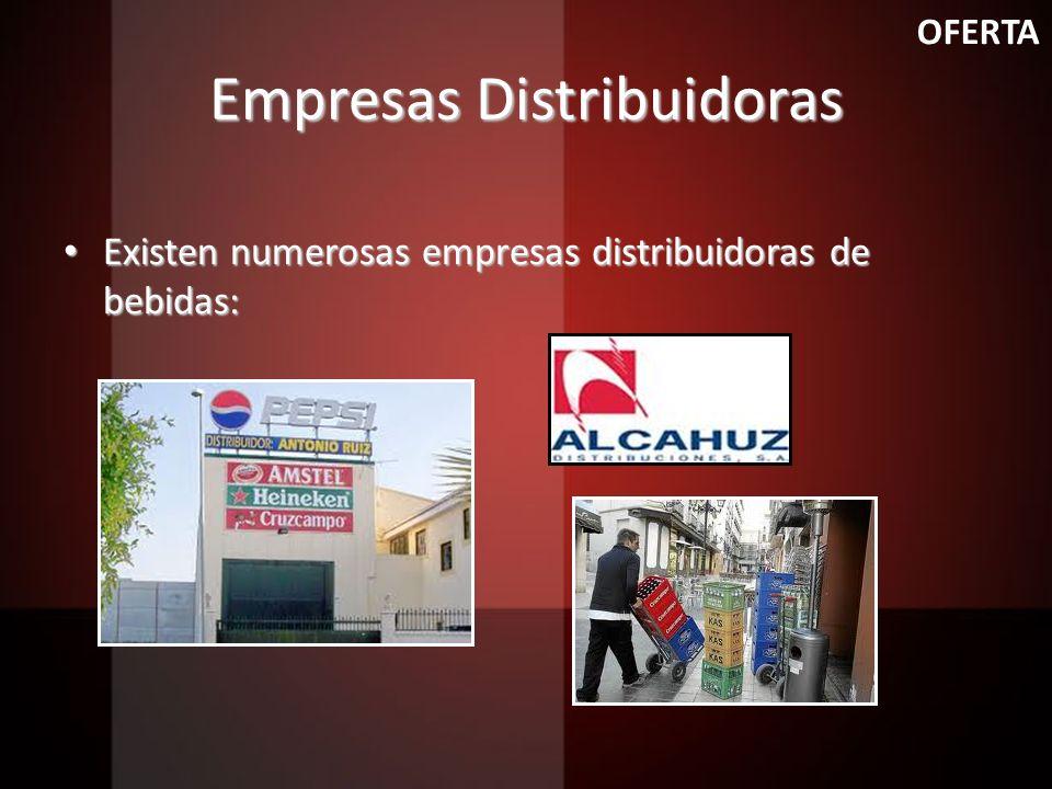 Empresas Distribuidoras Existen numerosas empresas distribuidoras de bebidas: Existen numerosas empresas distribuidoras de bebidas: OFERTA