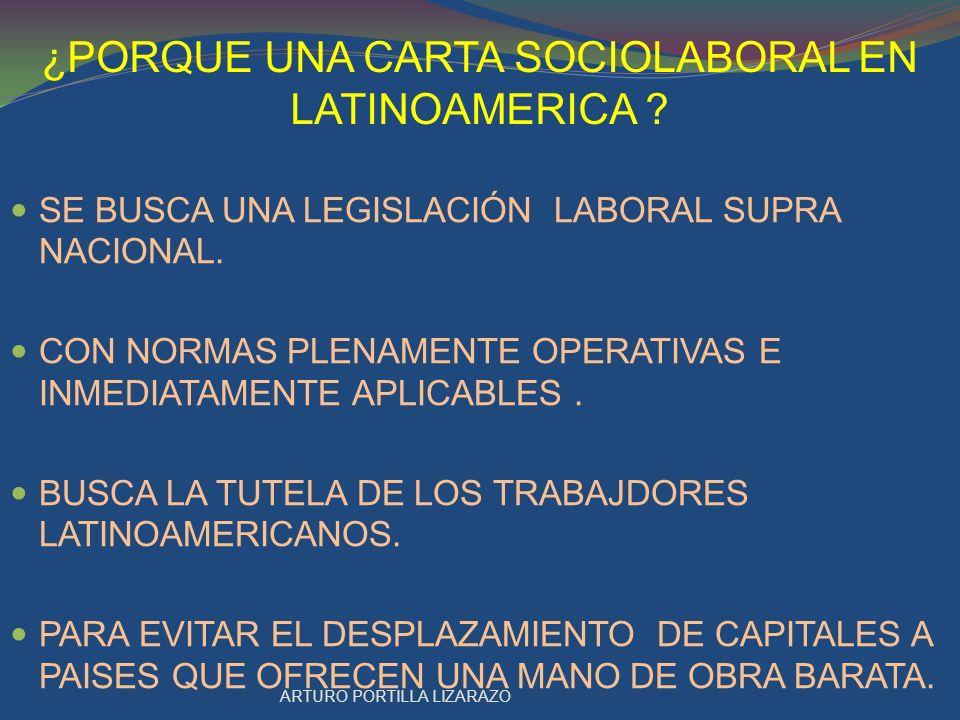 CARTA SOCIOLABORAL LATINO AMERICANA Carta de Cochabamba de la ALAL.
