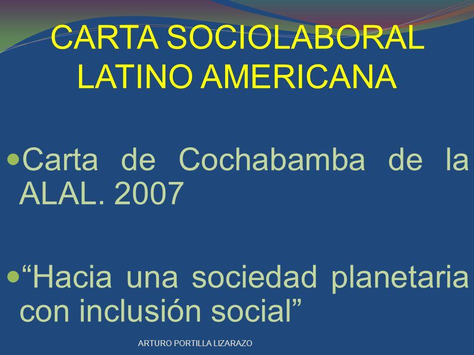 CARTA SOCIOLABORAL LATINO AMERICANA APROBACIÓN DE LOS CONTENIDOS EN LA CIUDAD DE MÉXICO EN OCTUBRE 23 DE 2009.
