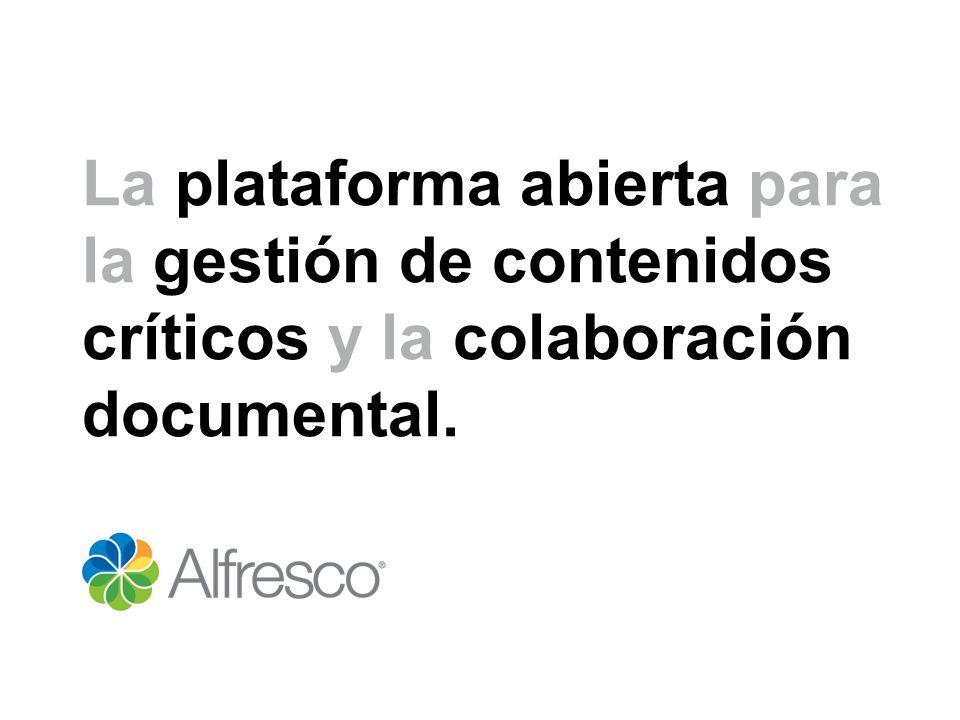 La plataforma abierta para la gestión de contenidos críticos y la colaboración documental.