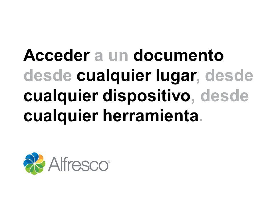 Acceder a un documento desde cualquier lugar, desde cualquier dispositivo, desde cualquier herramienta.