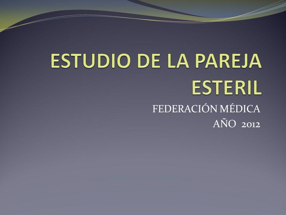FEDERACIÓN MÉDICA AÑO 2012