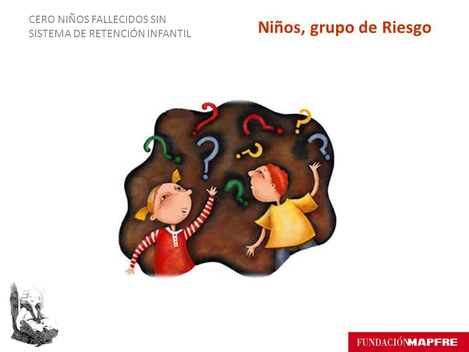 CERO NIÑOS FALLECIDOS SIN SISTEMA DE RETENCIÓN INFANTIL Niños, grupo de Riesgo