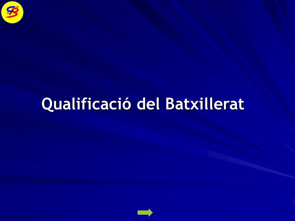 Qualificació del Batxillerat