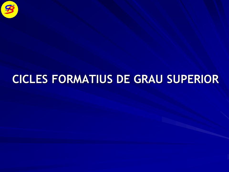 CICLES FORMATIUS DE GRAU SUPERIOR
