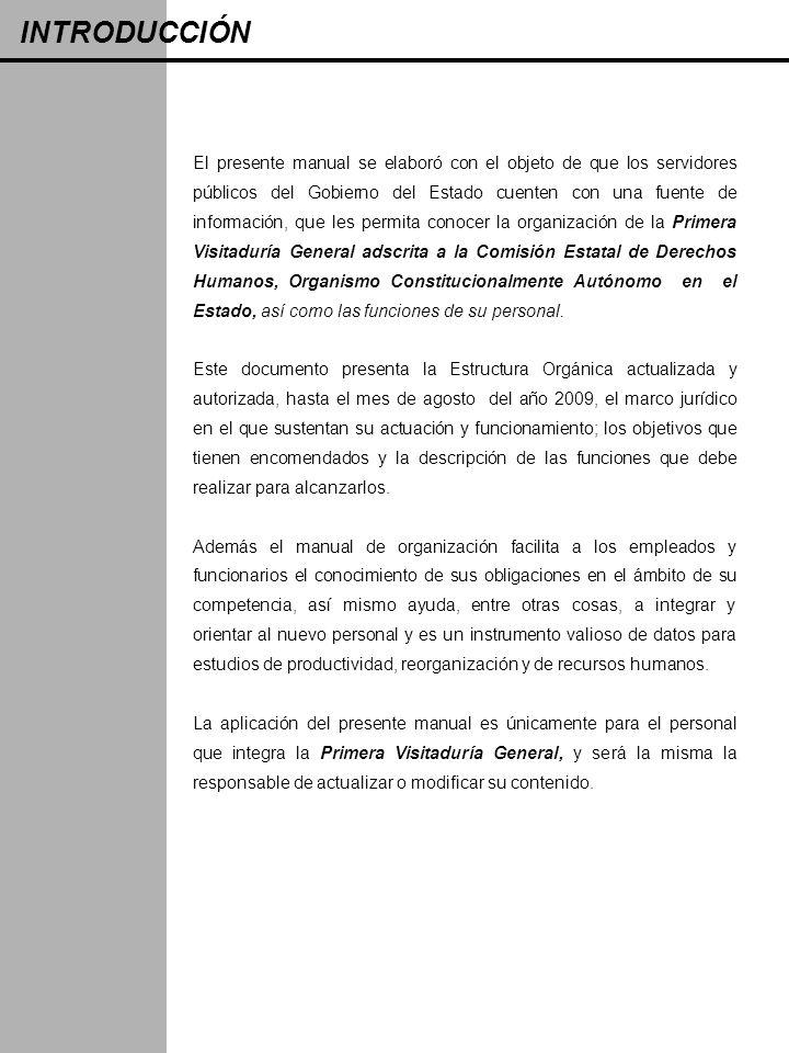 INTRODUCCIÓN El presente manual se elaboró con el objeto de que los servidores públicos del Gobierno del Estado cuenten con una fuente de información,