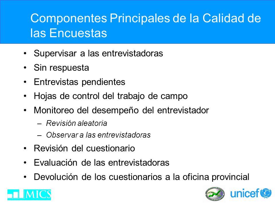 Supervisión de los Entrevistadores La capacitación es un proceso continuo.