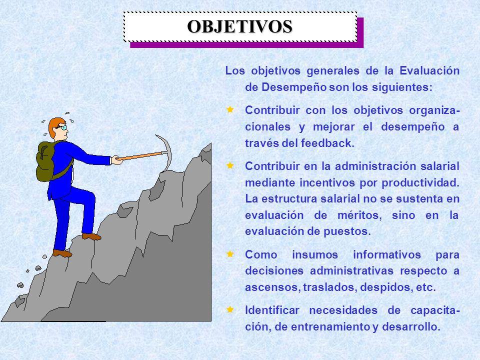 DEFINICIÓN DE EVALUACIÓN DE DESEMPEÑO Es un proceso dirigido a apreciar el rendimiento global de los trabajadores en el cargo que desarrollan, identif