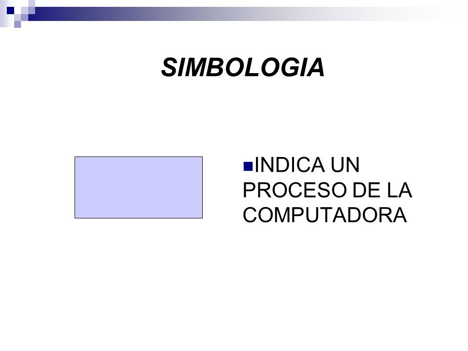 INDICA UN PROCESO DE LA COMPUTADORA SIMBOLOGIA