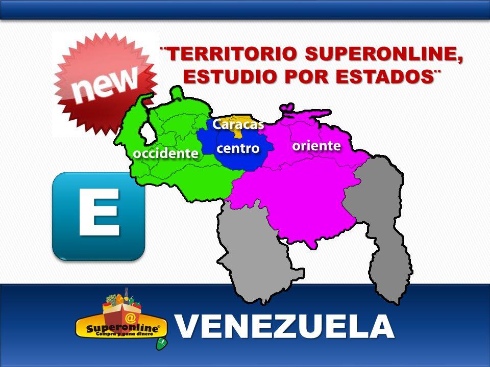 VENEZUELA E ¨TERRITORIO SUPERONLINE, ESTUDIO POR ESTADOS¨