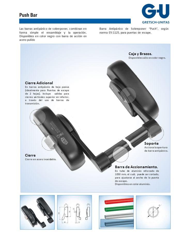 Las barras antipánico de sobreponer, combinan en forma simple el ensamblaje y la operación.