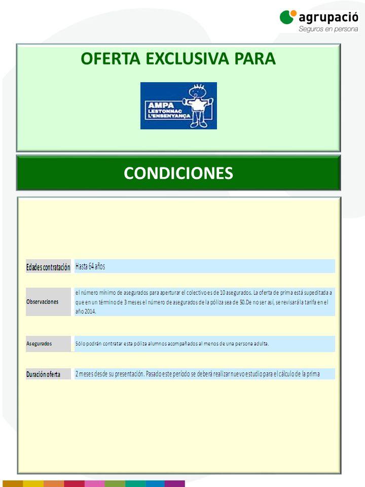 CONDICIONES OFERTA EXCLUSIVA PARA