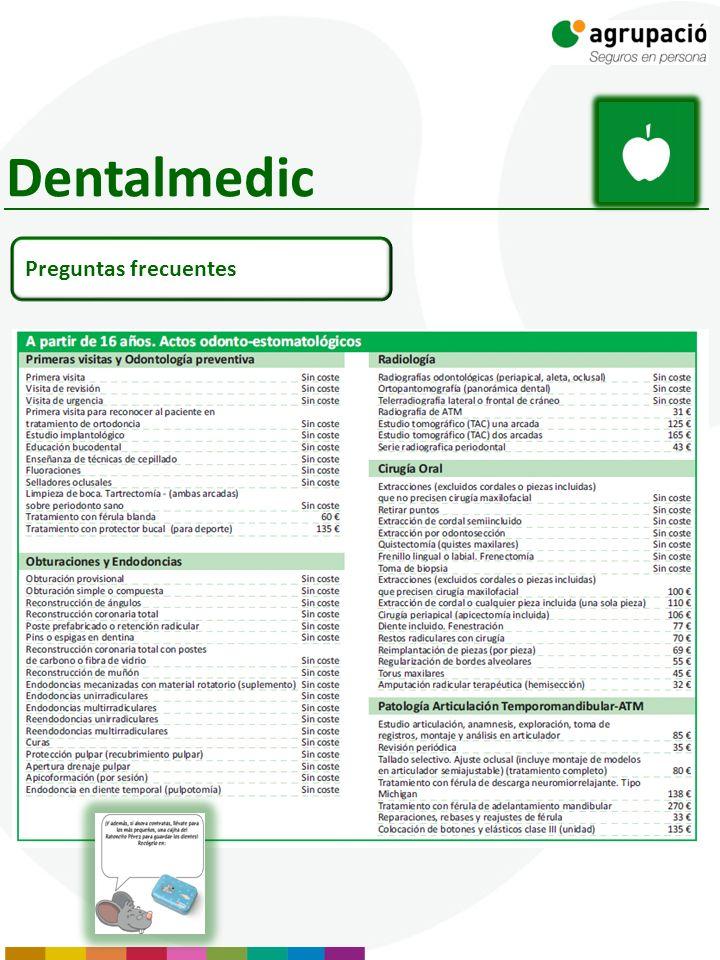 Dentalmedic Preguntas frecuentes