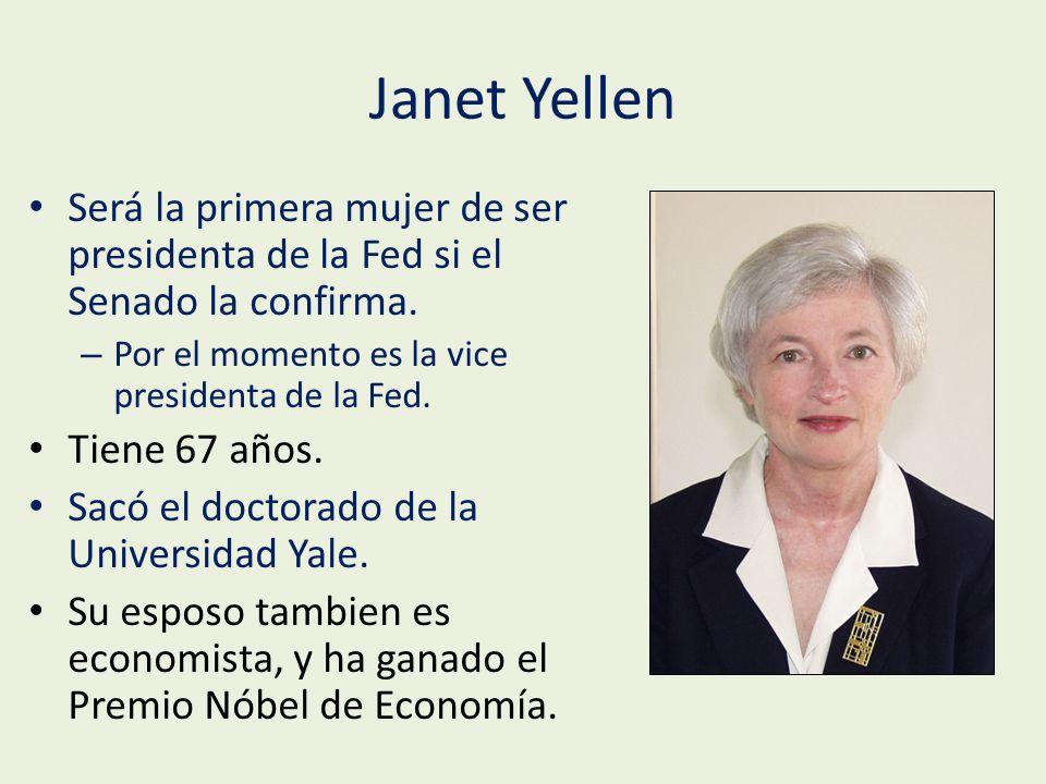 Janet Yellen Será la primera mujer de ser presidenta de la Fed si el Senado la confirma.