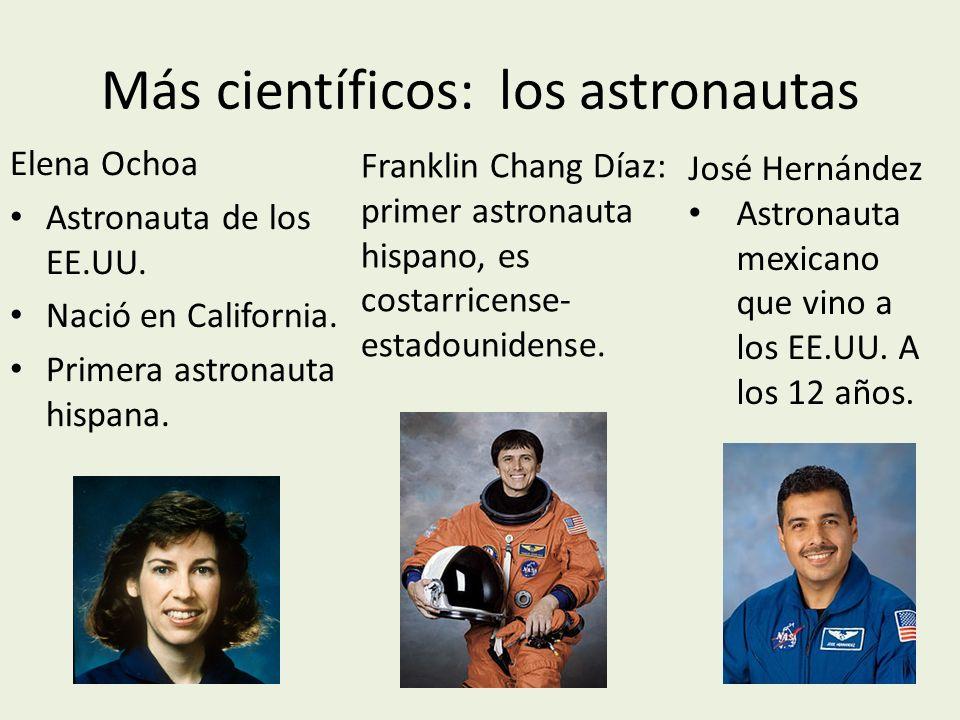 Más científicos: los astronautas Elena Ochoa Astronauta de los EE.UU.