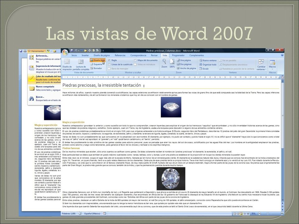 Las vistas de Word 2007