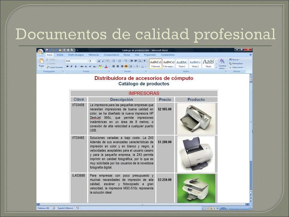 Documentos de calidad profesional