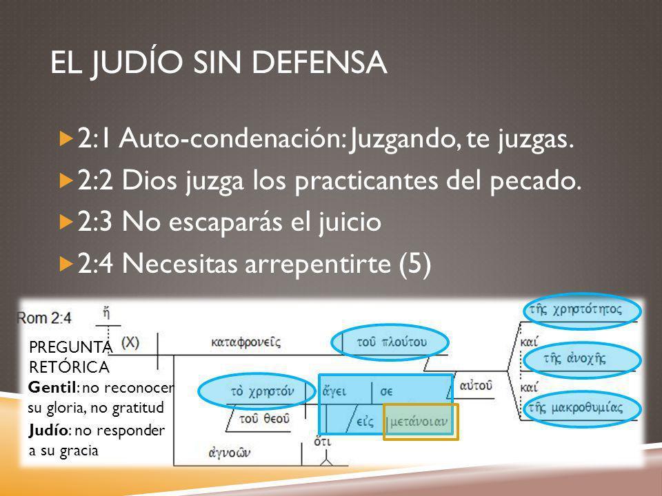 EL JUDÍO SIN DEFENSA 2:1 Auto-condenación: Juzgando, te juzgas.