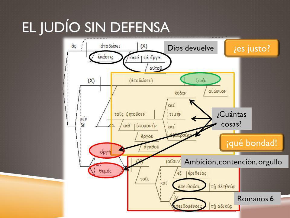 EL JUDÍO SIN DEFENSA Dios devuelve ¿es justo.