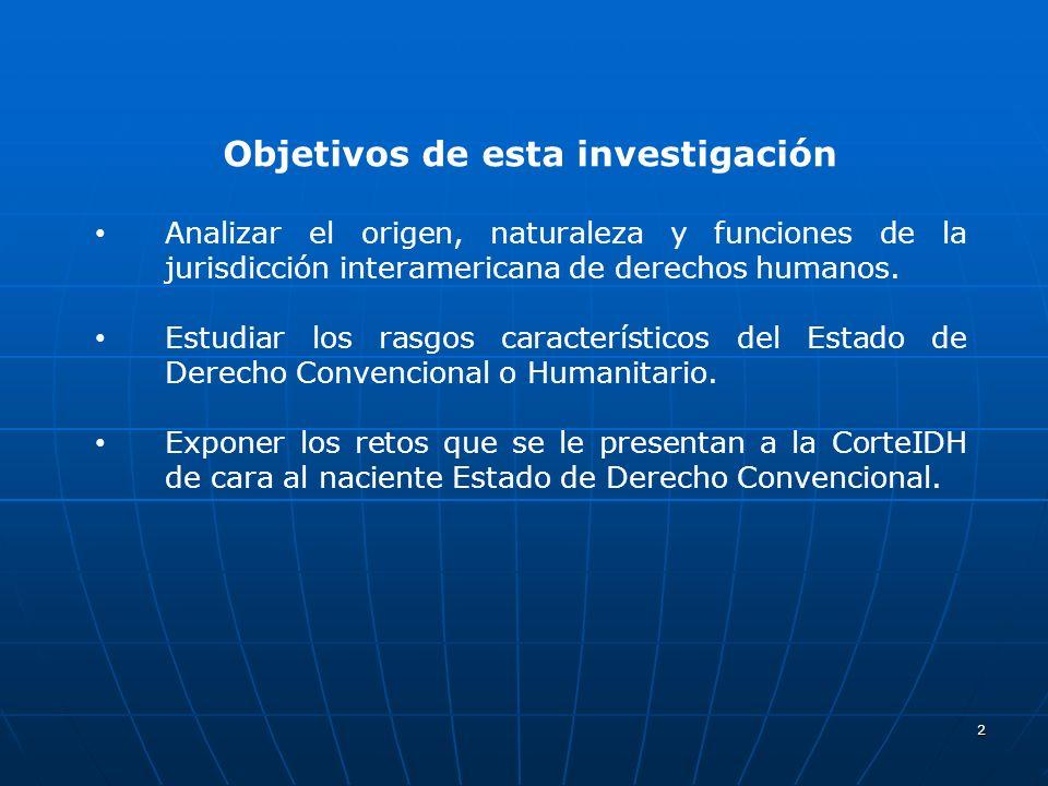 3 Objeto y naturaleza de la CorteIDH : Objeto y naturaleza de la CorteIDH : Protección de la Dignidad Humana.Protección de la Dignidad Humana.