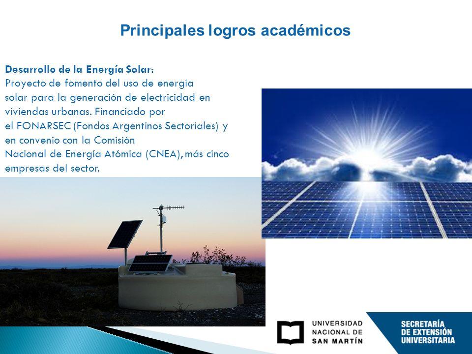 Desarrollo de la Energía Solar: Proyecto de fomento del uso de energía solar para la generación de electricidad en viviendas urbanas.