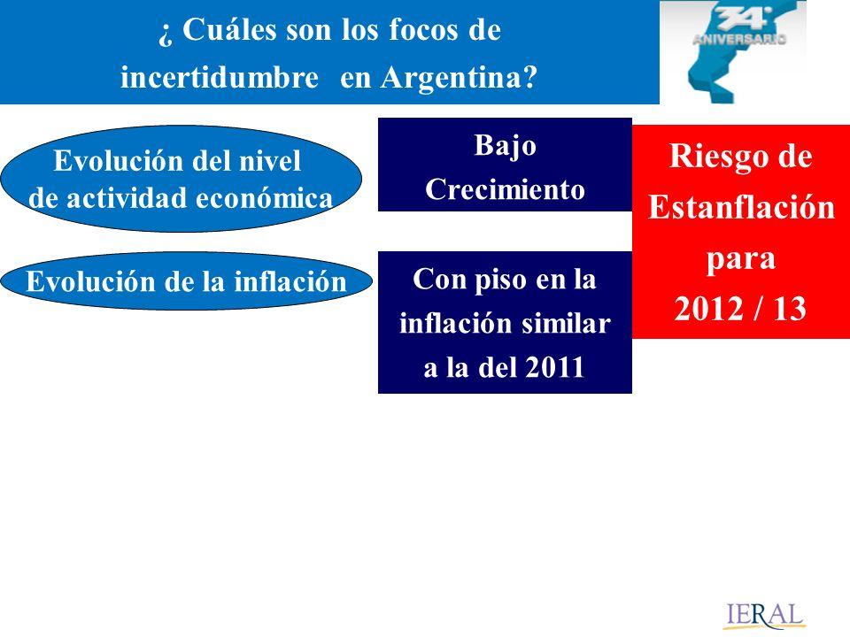 ¿ Cuáles son los focos de incertidumbre en Argentina.