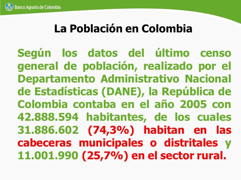 Según los datos del último censo general de población, realizado por el Departamento Administrativo Nacional de Estadísticas (DANE), la República de C