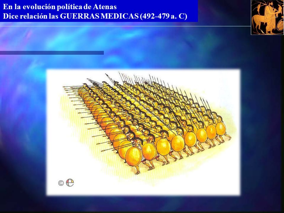 En la evolución política de Atenas Dice relación las GUERRAS MEDICAS (492-479 a. C)