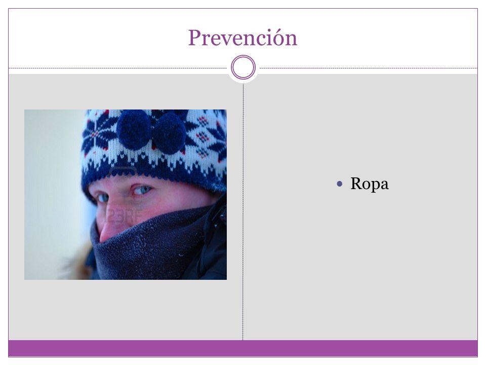 Prevención Ropa