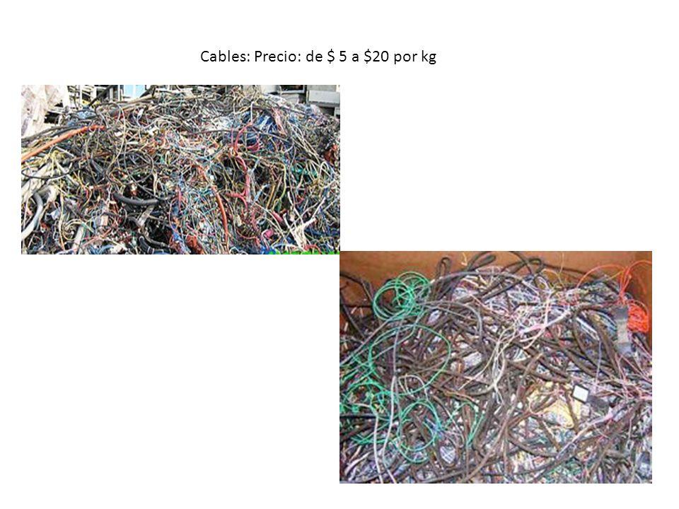 Cables: Precio: de $ 5 a $20 por kg