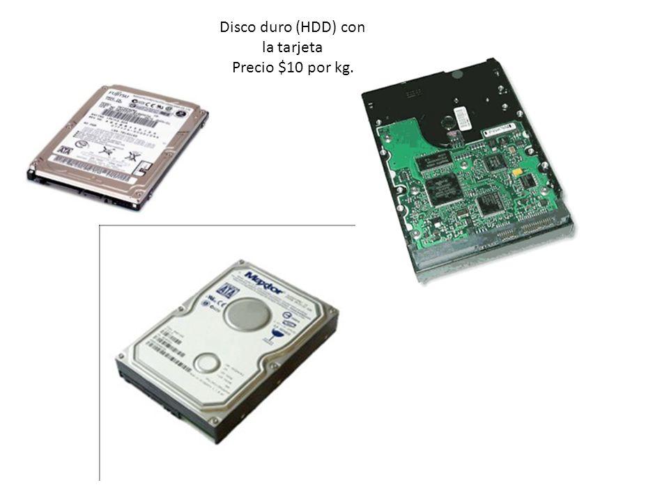 Disco duro (HDD) con la tarjeta Precio $10 por kg.