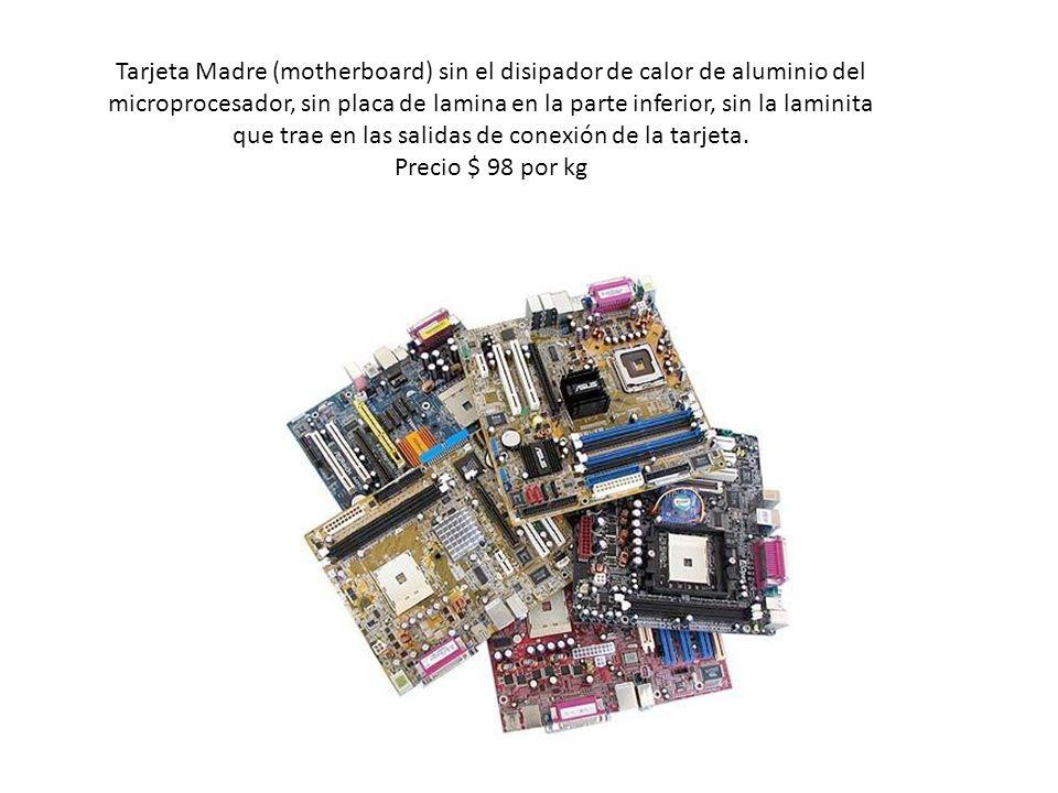 Tarjeta Madre (motherboard) sin el disipador de calor de aluminio del microprocesador, sin placa de lamina en la parte inferior, sin la laminita que t