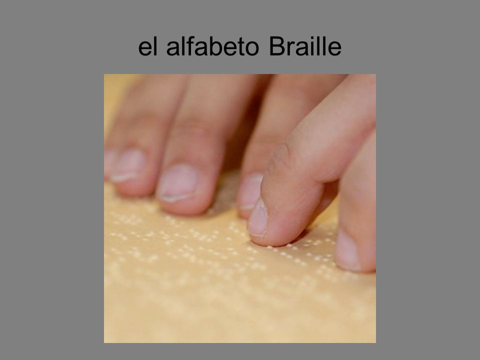 el alfabeto Braille
