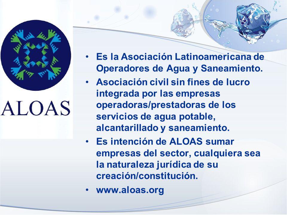 Es la Asociación Latinoamericana de Operadores de Agua y Saneamiento. Asociación civil sin fines de lucro integrada por las empresas operadoras/presta