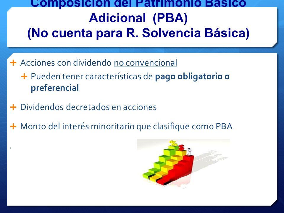 Composición del Patrimonio Básico Adicional (PBA) (No cuenta para R.