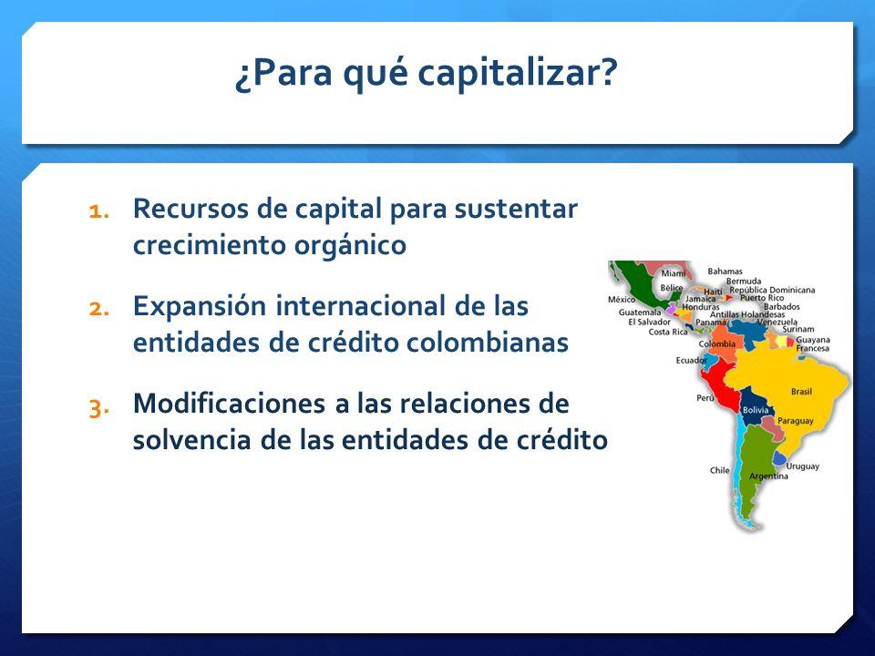 ¿Para qué capitalizar.1. Recursos de capital para sustentar crecimiento orgánico 2.