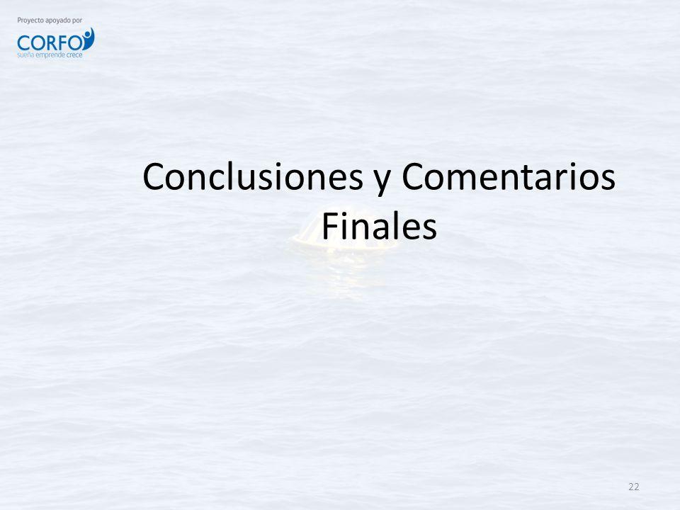 Conclusiones y Comentarios Finales 22