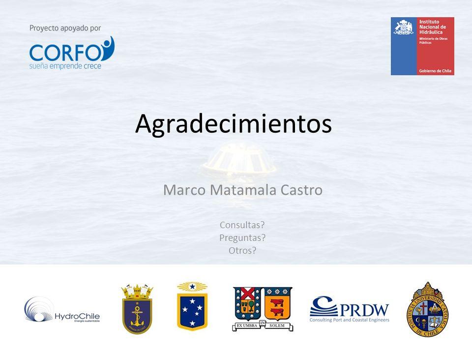 Agradecimientos Marco Matamala Castro Consultas? Preguntas? Otros?