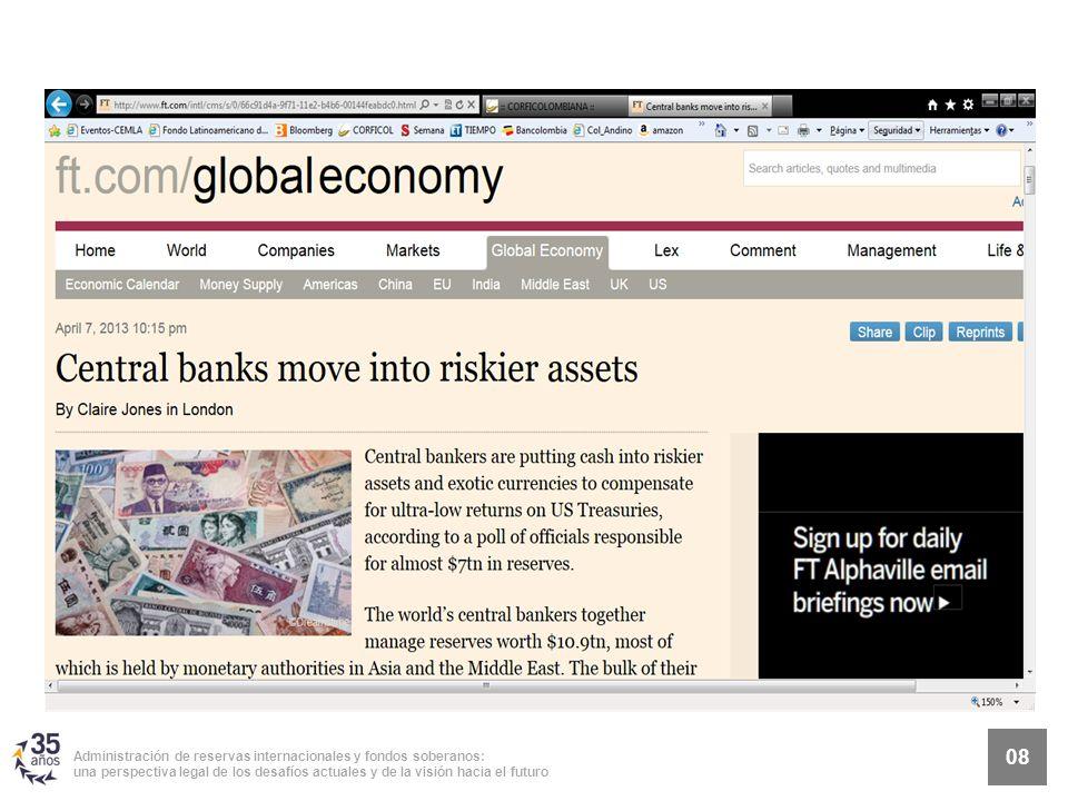 8 Administración de reservas internacionales y fondos soberanos: una perspectiva legal de los desafíos actuales y de la visión hacia el futuro 08